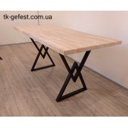 """Компьютерный деревянный стол с металлическими ножками """"Гамбург""""  в стиле Loft"""