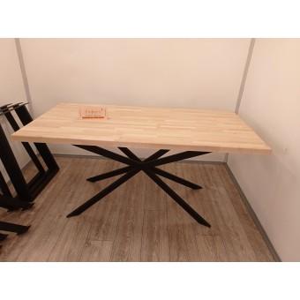 """Стол обеденный """"Лейпциг"""" деревянный с металлическими ножками в стиле Loft"""