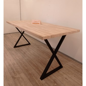 """Письменный деревянный стол с металлическими ножками """"Бремен"""" в стиле Loft"""